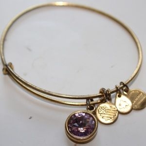 Gold Alex and Ani gem bracelet